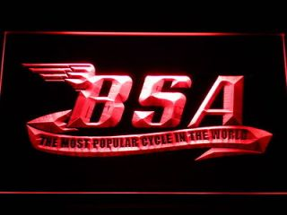 Newly listed d209 r BSA Motorcycles Cycle Neon Light Sign