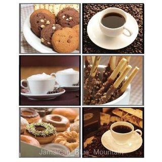 Coffee Tea Cookie Donut PVC Wall Kitchen Cabinet Glass Doors Sticker