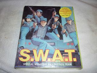 listed VINTAGE SEALED 1975 S.W.A.T TV POLICE PUZZLE 150 PIECE PUZZLE