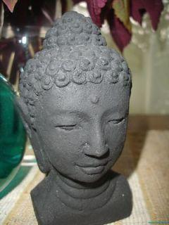 Bali Buddha Bust Head Statue caste LAVA STONE Garden Statue Balinese