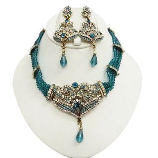 wedding jewelry set blue in Bridal & Wedding Party Jewelry
