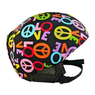 Peace & Love Active Helmet Cover for bike, skate & snow sport helmets