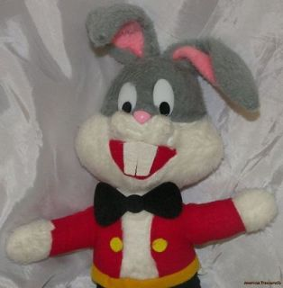 Vintage Warner Bros MIGHTY STAR Plush Stuffed 16 BUGS BUNNY Red Suit