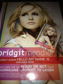 Bridgit Mendler   My name is album promo poster   large   RARE!! w