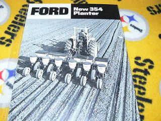 Ford Tractor 354 Corn Planter Dealers Brochure