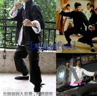 Bruce Lee Kung Fu 3 pieces Suit Costume martial arts wing chun outfit