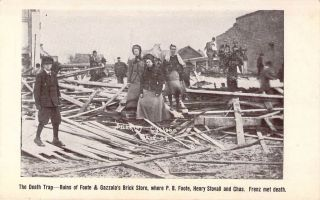Brinkley, AR, death Trap, Foote and Gazzola Bldg, After Cyclone, 1909