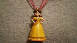 Princess Daisy Super Mario Bros Figure Charm Necklace