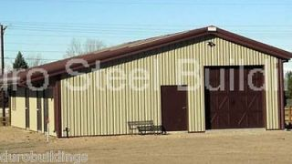 New 60x88x10/15T all Metal Building Kit Single Slope Clear Span Barn
