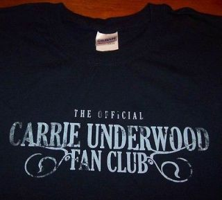 The Official CARRIE UNDERWOOD FAN CLUB T Shirt LARGE
