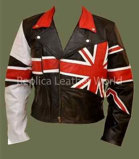 Fine Quality BRANDO UNION JACK BRITISH FLAG Motorcycle Biker Real
