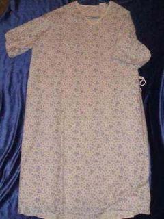 Hospital Exam Convalescent Nursing home Gown Size S M L XL unisex