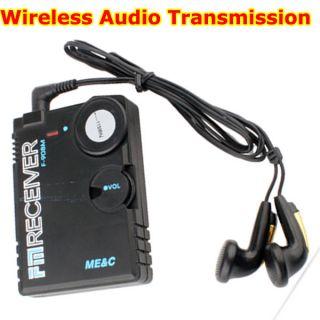 Bug Covert RF FM Audio Transmitter Receiver Spy Listening Device