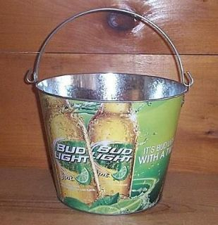 Newly listed BUD LIGHT LIME 5QT. METAL BEER ICE BUCKET COOLER NEW