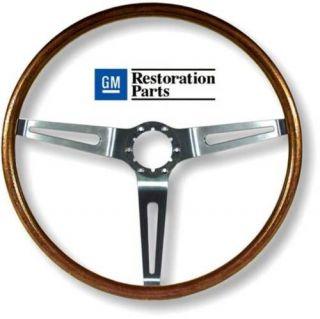 67 68 Chevelle Walnut Sport Steering Wheel GM Restoration