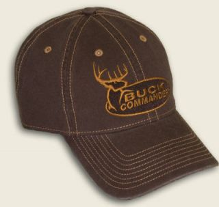 NEW BUCK COMMANDER BROWN HAT WITH LOGO DUCK