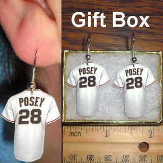 Buster Posey #28 San Francisco Giants Baseball Jersey Earrings