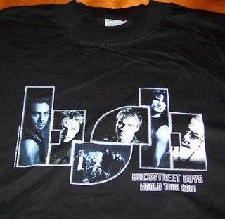 BACKSTREET BOYS Black And Blue WORLD TOUR T Shirt SMALL NEW