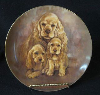 COCKER SPANIELS c1982 COLLECTOR PLATE by Leo Jansen