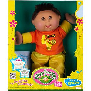 Jakks Cabbage Patch Kids DOLL HISPANIC ATHLETE   BOY DOLL PREMIERE