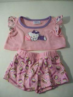 Build A Bear Clothing~Hello Kitty Pink Short Set~E4