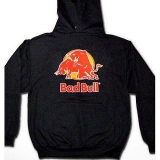 Bad Bull Hoodie Sweatshirt Pullover Rude Funny Trendy