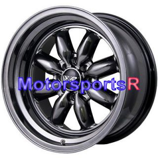 16 16x8 XXR 513 Chromium Black Rims Wheels Deep Dish Step Lip 4x100