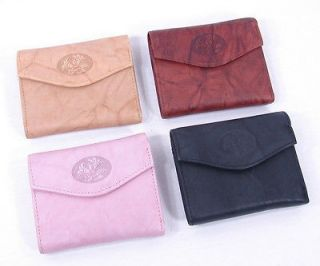 Buxton Genuine Leather Womens Small Mini Trifold Wallet Small Heiress