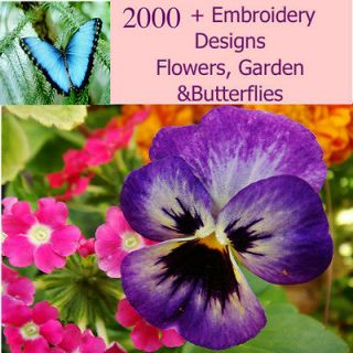 Newly listed Over 2000 Flower, Garden and Butterfly Machine Embroidery