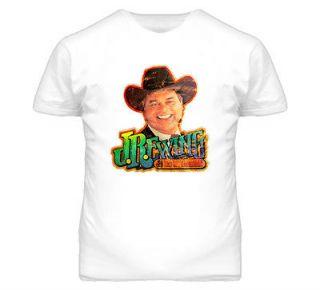 JR Ewing Larry Hagman Dallas Tv Show Who Shot JR Retro Classic T Shirt