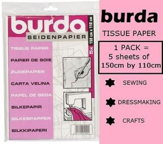 Pack Burda Tissue Paper for Pattern Tracing Sewing Dressmaking