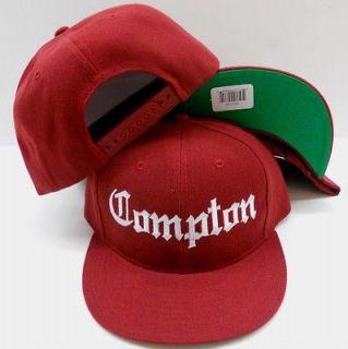 Burgundy Compton Flat Bill Snapback Baseball Cap Hat, eazy e