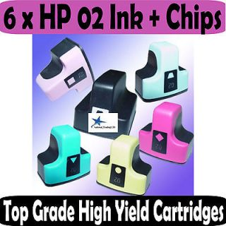 Newly listed 4 Yellow Ink Cartridges for HP 02 XL HP02 PhotoSmart