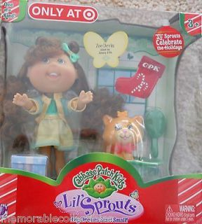 Cabbage Patch Kids Sprouts ZOE DEVIN doll Born 1/29 & Pet Cat Target