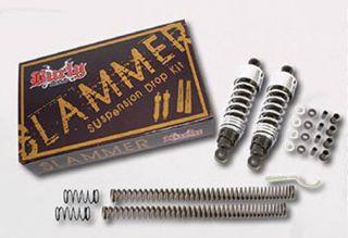 Burley Slammer Lowering Kit Shocks Chrome Touring 80 10