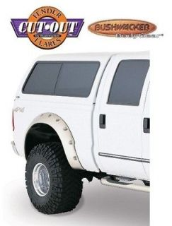 BUSHWACKER 20044 02 Rear M Blk Cutout Style Fender Flares for 99 04