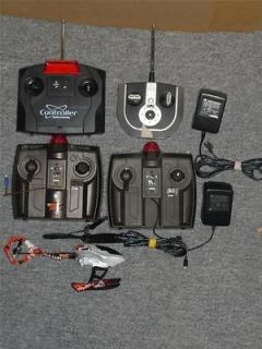 Big Lot of 4 RC Remote Control Helicopter Controllers Air Hogs + Broen