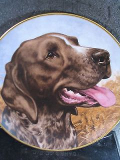 Bird Dogs GERMAN SHORT HAIR POINTER by John Francis Ltd Ed Plate
