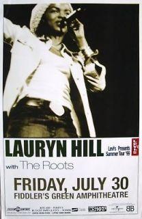 LAURYN HILL 1999 DENVER CONCERT POSTER FUGEES, NEO SOUL
