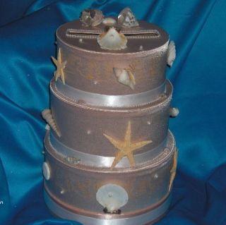 WEDDING CAKE MONEY CARD BOX HOLDER CUSTOM MADE BEACH
