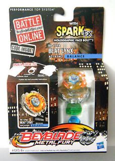 BEYBLADE METAL FURY BALANCE   BEAT LYNX (BB 109B) SPARK FX   RARE!
