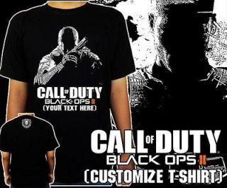 Call Of Duty BLACK OPS 2 II Xbox360 PS3 PC Black t shirt tee S   3XL