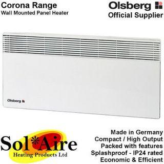 Corona Electric Panel Heater Wall Mounted Bathroom / Splashproof