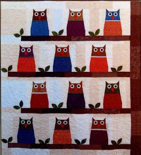 Buttons & Bees Quilt Pattern   Hootenanny   Owl Owls