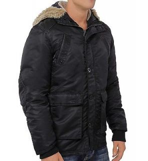 Buffalo David Bitton Mens BM13263 JETHRIN Down Mix Black 2 in 1 Parka