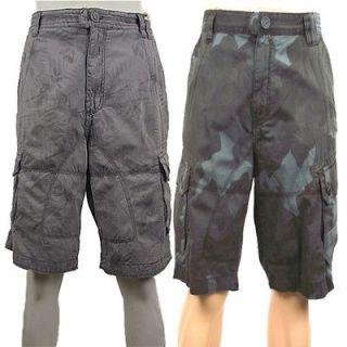 men blue camo shorts