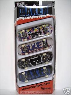 TECH DECK Baker Skateboards 96mm Fingerboard 4 Pack 2006