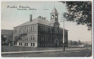 1910 JEWETT Ohio Postcard HIGH SCHOOL Cadiz Harrison County