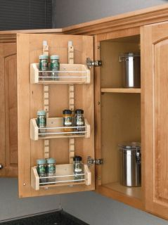 Rev A Shelf Door Mount Spice Rack for 18 Wall Cabinet 4SR 18