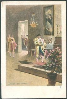 SPAIN   ART PEREA Antes de la Corrida Old Postcard VF